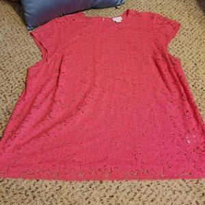 Liz Claiborne woman sheer top with camisole